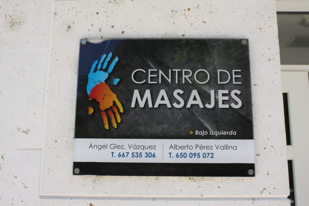 Cartel exterior Centro de Masaje Villamuriel